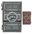 Steel open door of bunker vector image
