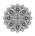 Indian ethnic mandala Ornamental round lace vector image