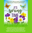 spring holiday poster of flowers bouquet vector image