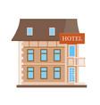hotel flat icon vector image