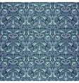 Dark blue baroque pattern vector image