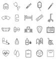 Hospital line icons on white background vector image vector image