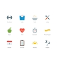 Fitness and Sport color icons on white background vector image