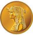egypt fifty piastres coin vector image vector image