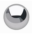 Black metallic sphere steel ball isolated vector image