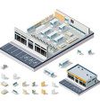 isometric DIY supermarket interior plan vector image