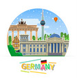 concept of travel or studying german vector image
