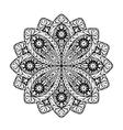 Indian ethnic mandala Ornamental round lace vector image