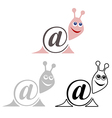 international sign email animals snail vector image