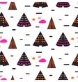 Scandinavian style black teepee seamless pattern vector image