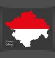Sumatera selatan indonesia map with indonesian vector image