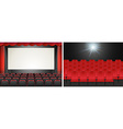 Movie screen in the cinema vector image vector image