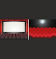 Movie screen in the cinema vector image