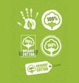 Organic cotton creative concept on grunge rust vector image