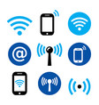 wifi network wireless internet zone smartphone vector image
