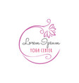 lotus flower yoga beauty center logo vector image