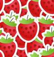 Fresh red strawberry seamless background vector image