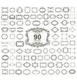 Set of 90 vintage floral frames vector image vector image