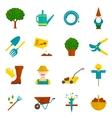 Vegetable garden flat icons set vector image