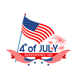 4 of july independence day vector image