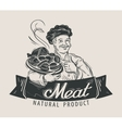 meat beef sausage logo design template