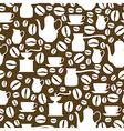 coffee seamless brown vector image vector image