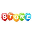 Store Balloon Concept of Discount vector image