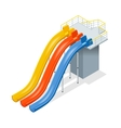 Water slides isolated on a white background Flat vector image