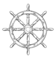 Ship wheel isolated on white background vector image