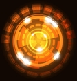 Abstract technology orange background with circles vector image