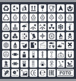 cargo icons set vector image
