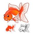 Fantail GoldFish vector image
