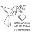 international day of peace logo design vector image