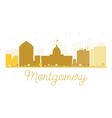 Montgomery City skyline golden silhouette vector image