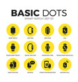 smart watch flat icons set vector image