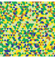 triangles background green yellow vector image