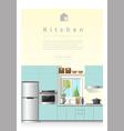 Interior design Modern kitchen banner 6 vector image