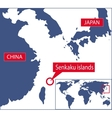 Senkaku map vector image vector image