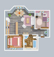 Architectural Flat Plan Top View vector image