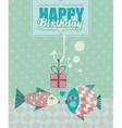 Fish Birthday Card vector image vector image