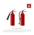 fire extinguisher on a white background vector image