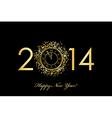 2014 new year clock vector image