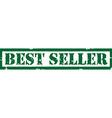 Stamp best seller vector image