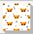 Animal seamless pattern collection with fox 6 vector image