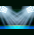 Background for posters night athletics stadium in vector image