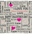 background to the Valentines Day vintage Set 6 vector image
