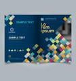 brochure abstract colorful squares pattern pixel vector image