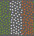clover leaf irish flag colored background vector image