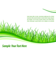 Grass wave background vector image