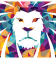 lion head logo template creative vector image